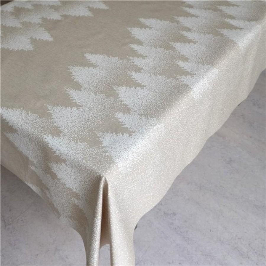 Akryldug Graner Natur/Hvid 140 cm Bred