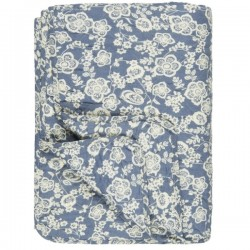 Quilt Vattæppe Blå m/blomster
