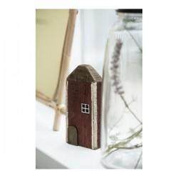 Træ badehus m/hvide vinduer