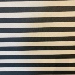Akryldug Sort/Hvid strib 150 cm Bred